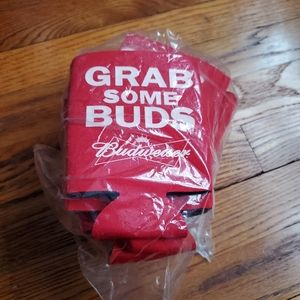 NEW 10 pack Budweiser koozies Grab Some Buds Red
